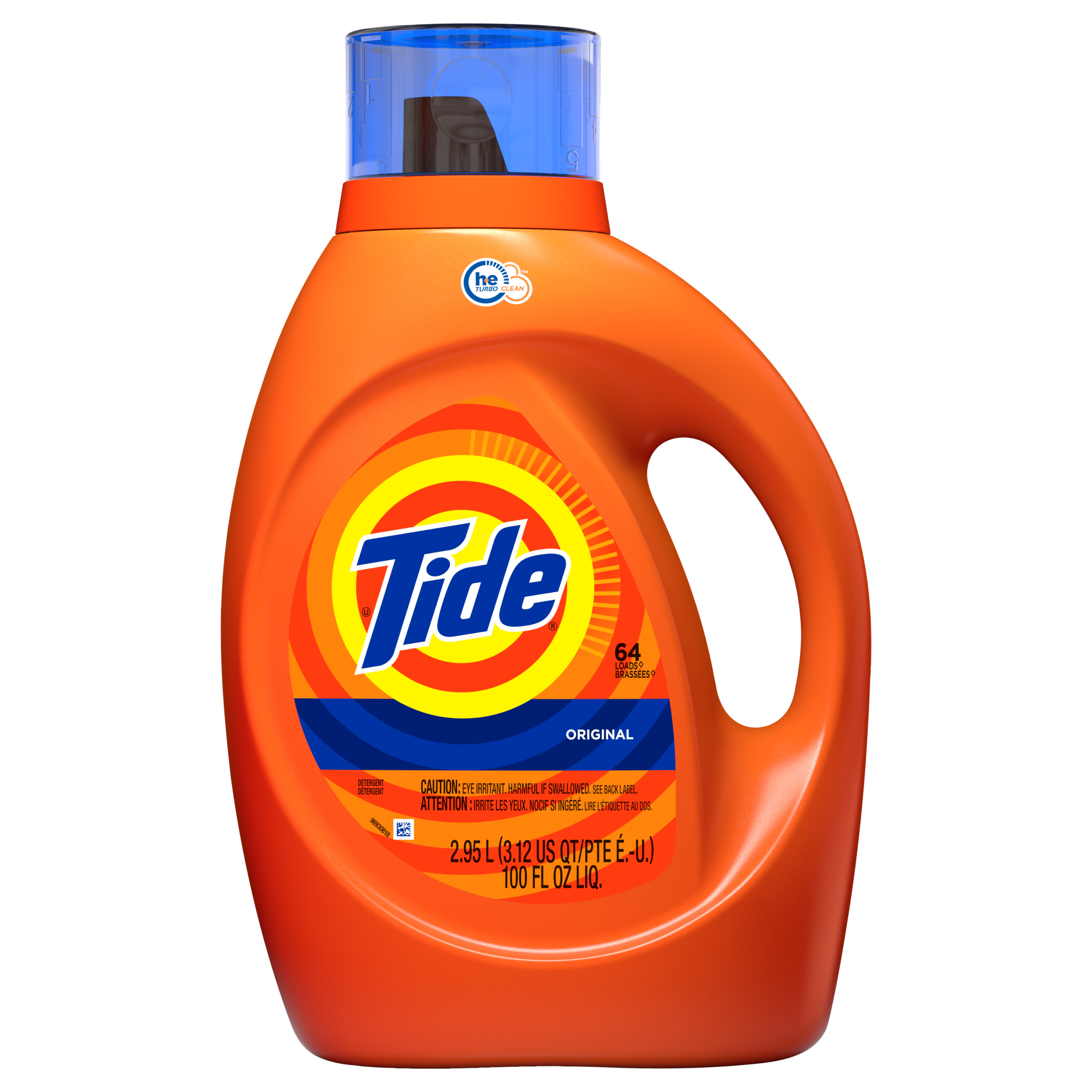 Tide Original Scent HE Turbo Clean Liquid Laundry Detergent, 64 loads, 2.95 L