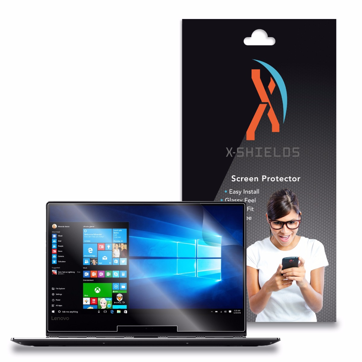 XShields© High Definition (HD+) Screen Protectors for Lenovo Yoga 910 13.3 (Maximum Clarity) Super Easy Installation [2-Pack] Lifetime Warranty, Advanced Touchscreen Accuracy