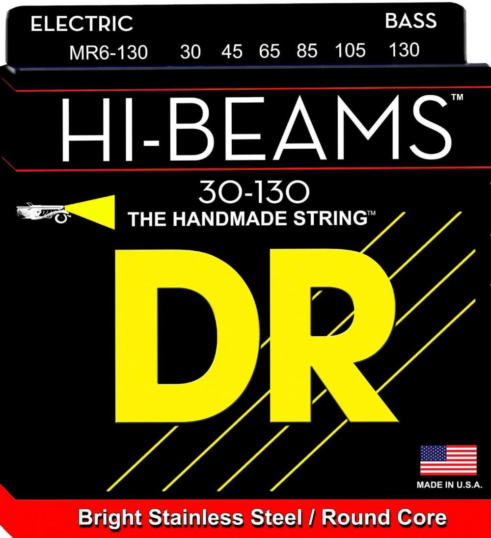 DR Strings HI Beams 6 String Bass Medium .130 Low B (30-130) by DR Strings