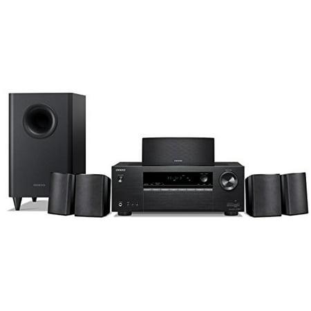 Onkyo 5 1 6-Channel Surround Sound Speaker System, black (HT-S3900)