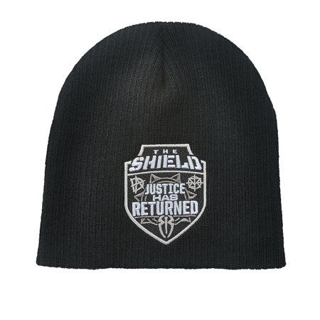 WWE - Official WWE Authentic The Shield Knit Beanie Hat Black - Walmart.com 3f4b5ffbfaa