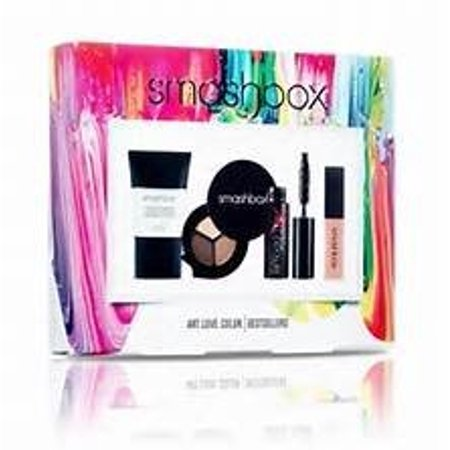 Smashbox 4 Pc Best Sellers Set Photo Finish Foundation Primer, Lip Gloss, Mascara and 3 Color Eye