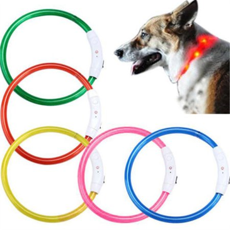 Collar Safety Light - Meigar Pet collar,Pikolai Rechargeable USB Waterproof LED Flashing Light Band Safety Pet Dog Collar