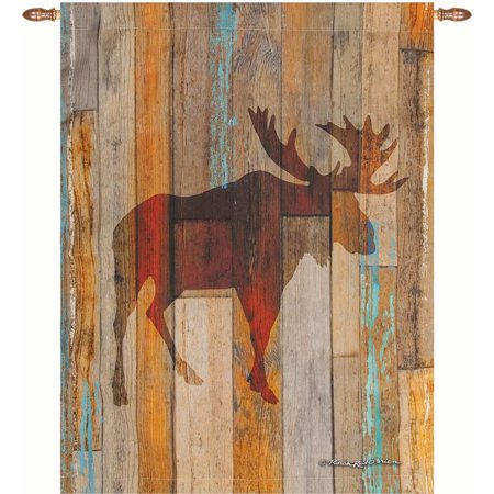 Manual Woodworkers & Weavers SWMOHD 26 x 36 in. Moose Head Dye Wall Hanging ()
