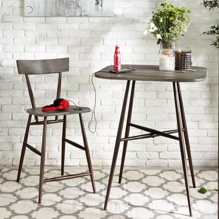 Outstanding Madison Park Cafe Wood And Mdf Bar Stool In Dark Grey Bronze Ii104 0020 Pdpeps Interior Chair Design Pdpepsorg