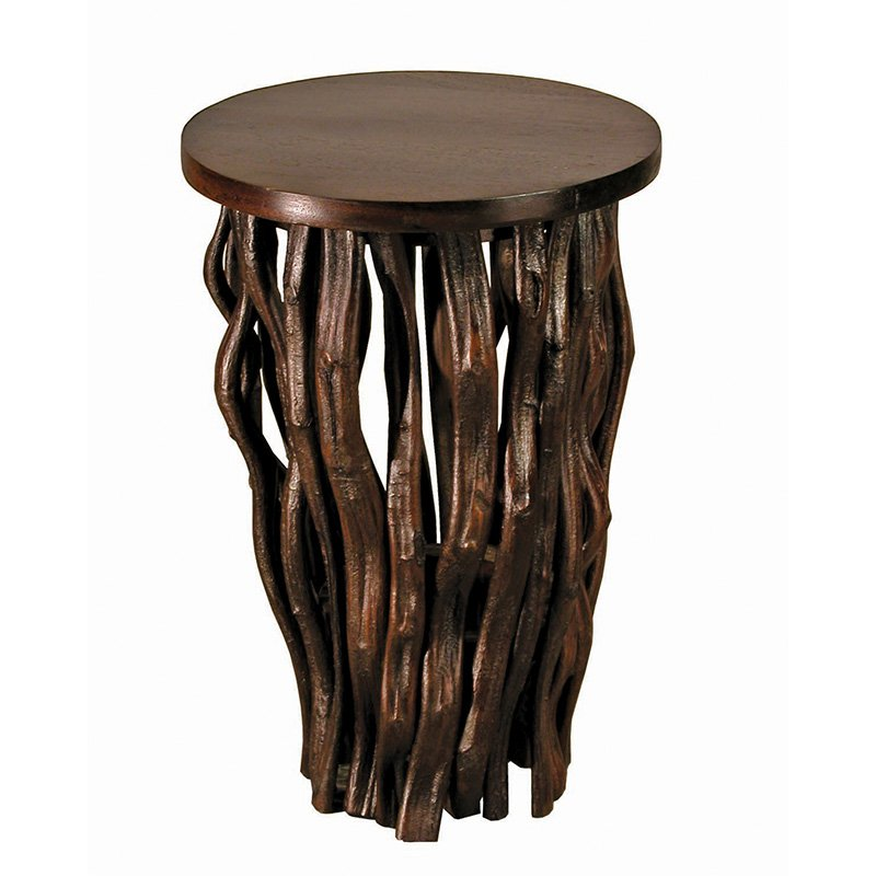 Groovystuff Time Revealed Small Side Table by Janice Kammler - Chocolate Lacquer