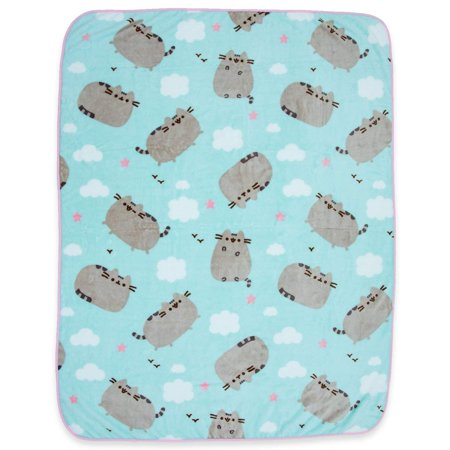 Pusheen The Cat Soft Fleece Blanket - Officially licensed Pusheen Colorful Throw Featuring Pusheen, Clouds & (Personalized Cat Throw)