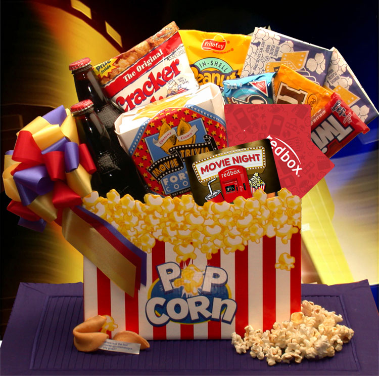 Gift Basket 820112-RB10 Movie Night Mania Gift Box 10.00 Redbox Gift Card by