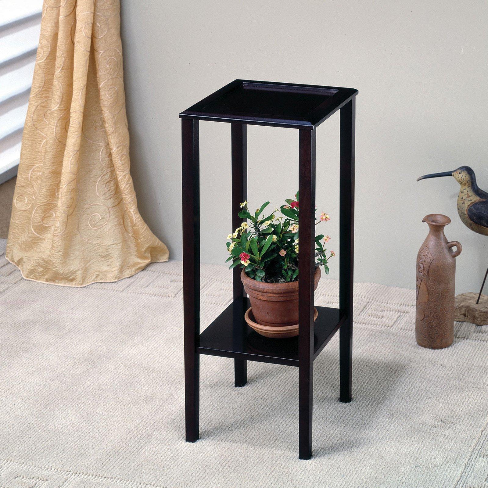 Coaster Furniture Square Espresso Plant Stand