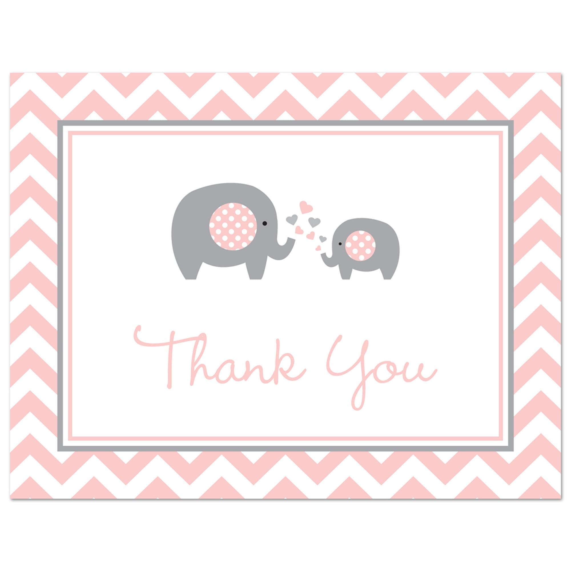 babyshower thank you card