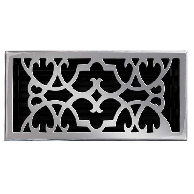 Brass Elegans Solid Cast Brass Victorian 6in. X 12in. Floor Register in Pewter Finish- 120HR PWT - image 1 of 1