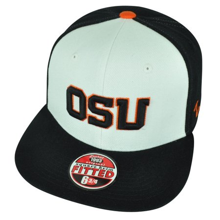 promo code ac761 512d9 NCAA Oregon State Beavers OSU Zephyr Fitted Size 6 3 4 Flat Bill Hat ...