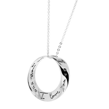 I love you more mobius necklace, eternity circle of love Sterling Silver Pendant