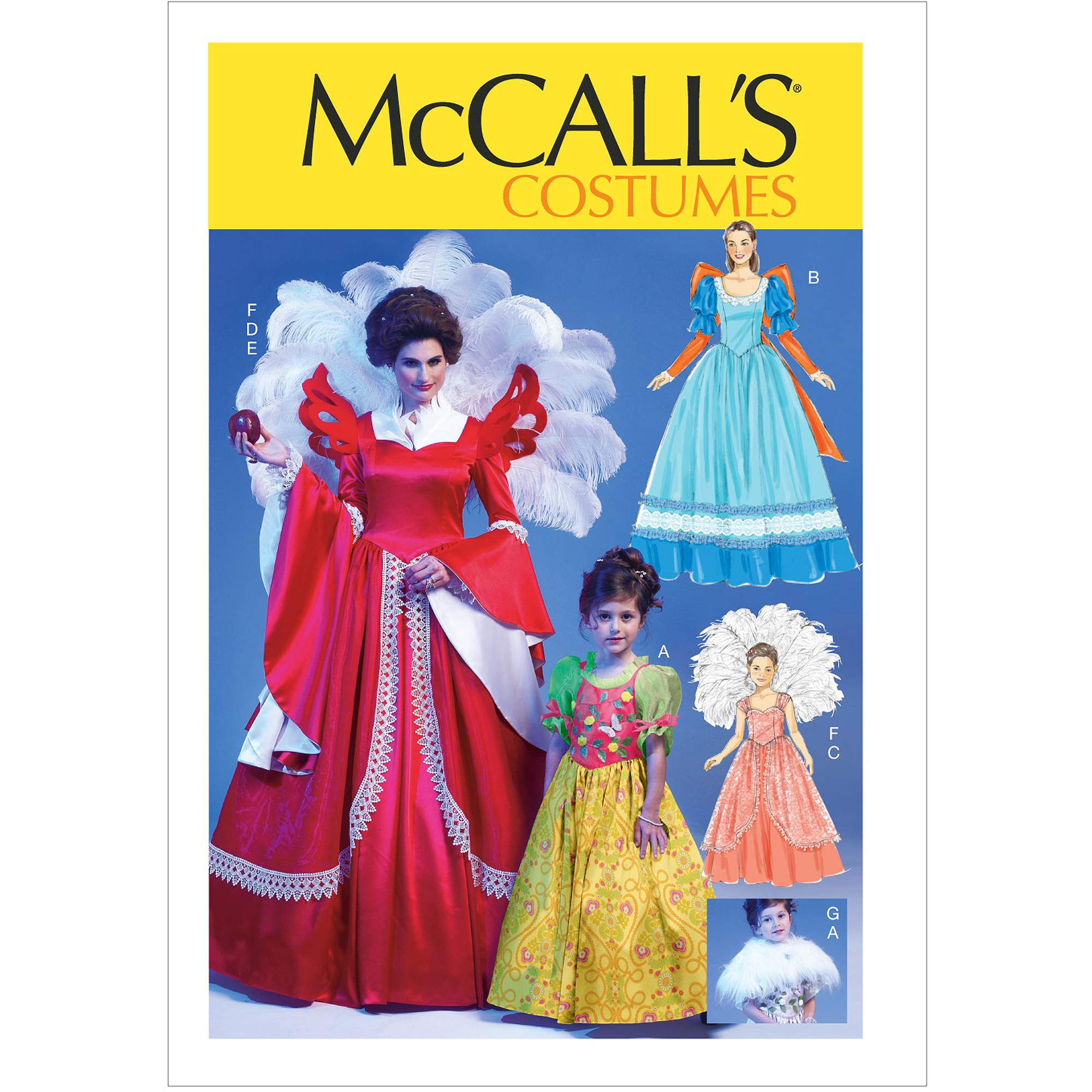 McCall's Pattern Misses', Children's and Girls' Costumes, Kids (3, 4 5, 6 7, 8)