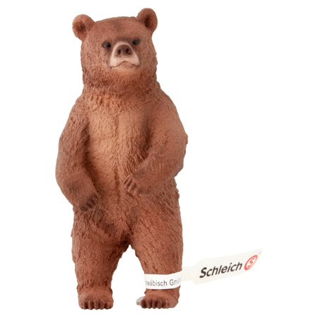 Schleich Female Grizzly Bear Toy Figurine 3