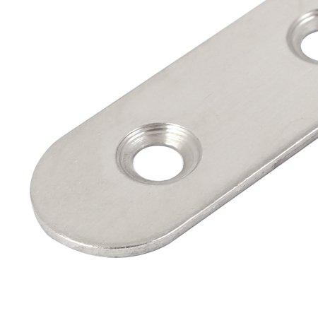 Flat Straight 4 Holes Repair Mending Fixing Plate Fastener 100x17x2mm 2pcs - image 1 de 3