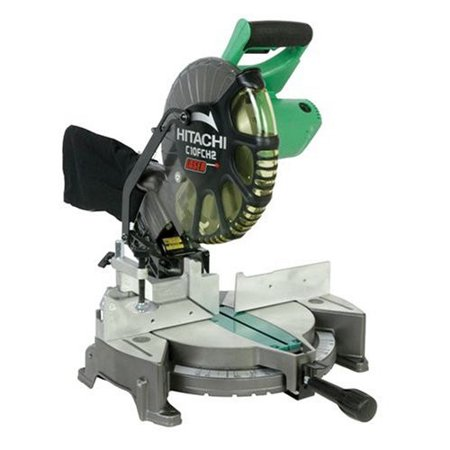 Factory-Reconditioned Hitachi C10FCH2 10 in  Compound Miter Saw with Laser  Guide (Refurbished)