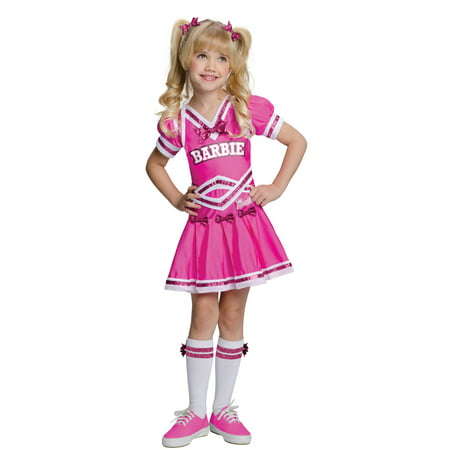 Barbie Cheerleader Child Halloween Costume - Patriots Cheerleader Costumes Halloween