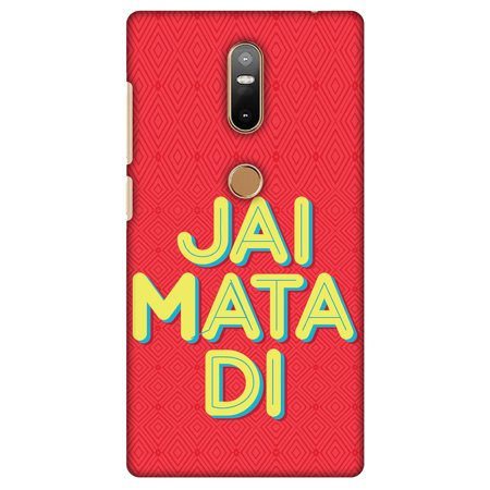 Lenovo Phab 2 Plus Case, Premium Handcrafted Designer Hard Shell Snap On Case Shockproof Printed Back Cover with Screen Cleaning Kit for Lenovo Phab 2 Plus - Jai Mata Di ,Slim,