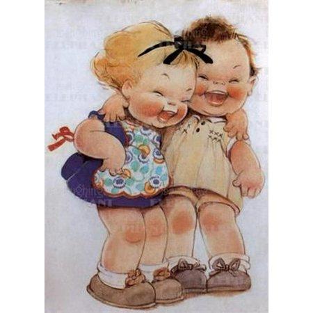 Little Girls Birthday Themes (Little Girls Laughing - Birthday Greeting)