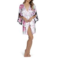Secret Treasures Women's Floral Print Satin Robe