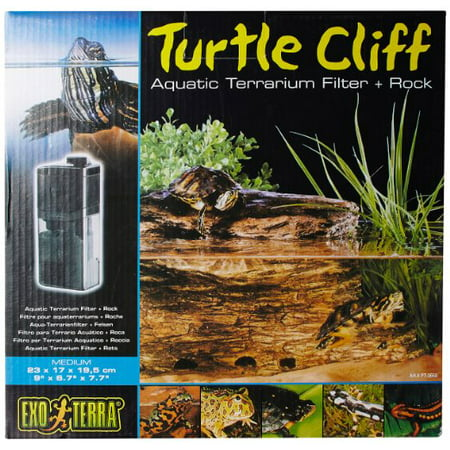 Exo Terra Turtle Cliff Aquatic Terrarium Filter/Rock,