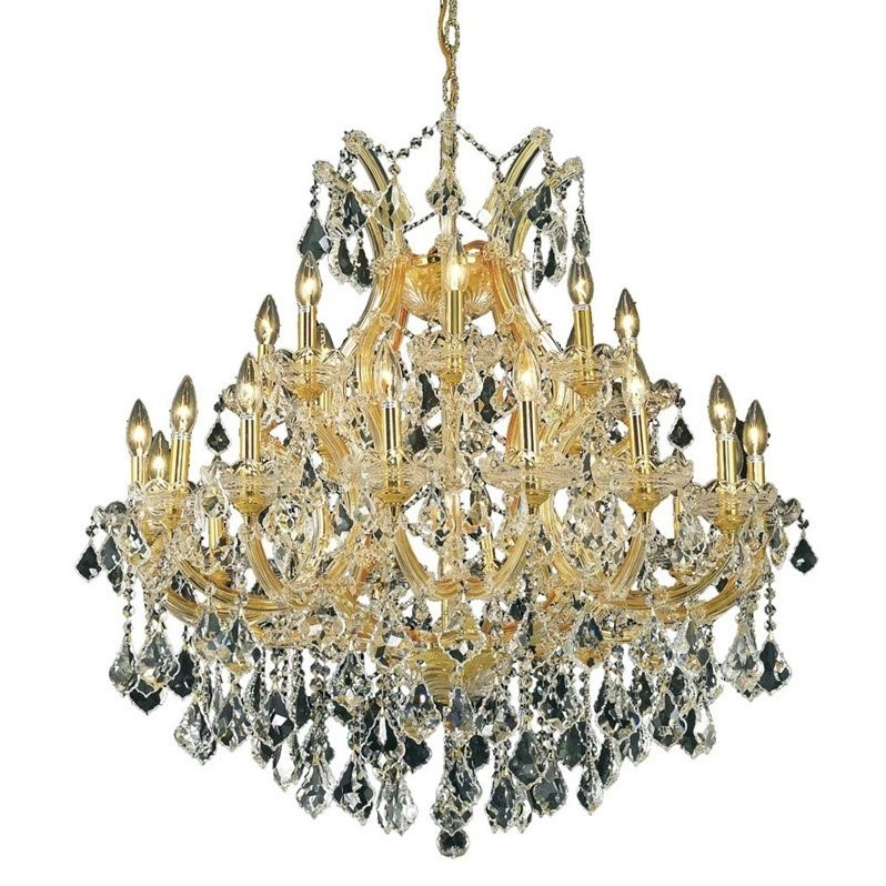 "Elegant Lighting Maria Theresa 36"" 24 Light Elegant Crystal Chandelier"