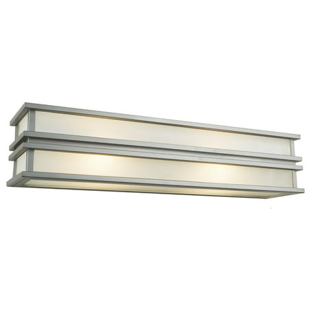 """Wall Sconces 2 Light Bulb Fixture With Brushed Stainless Steel Finish Steel G9 6"""" 100 Watts"""