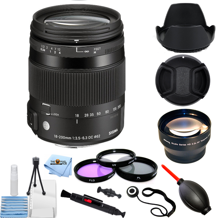 Sigma 18-200mm f/3.5-6.3 DC Macro OS HSM Lens For Canon Digital Cameras!! PRO KIT!!