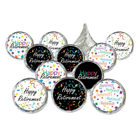 Retirement Party Favor Stickers 324 count - Happy Retirement Party Supplies Officially Retired Decoration Candy Favors - 324 Count Stickers