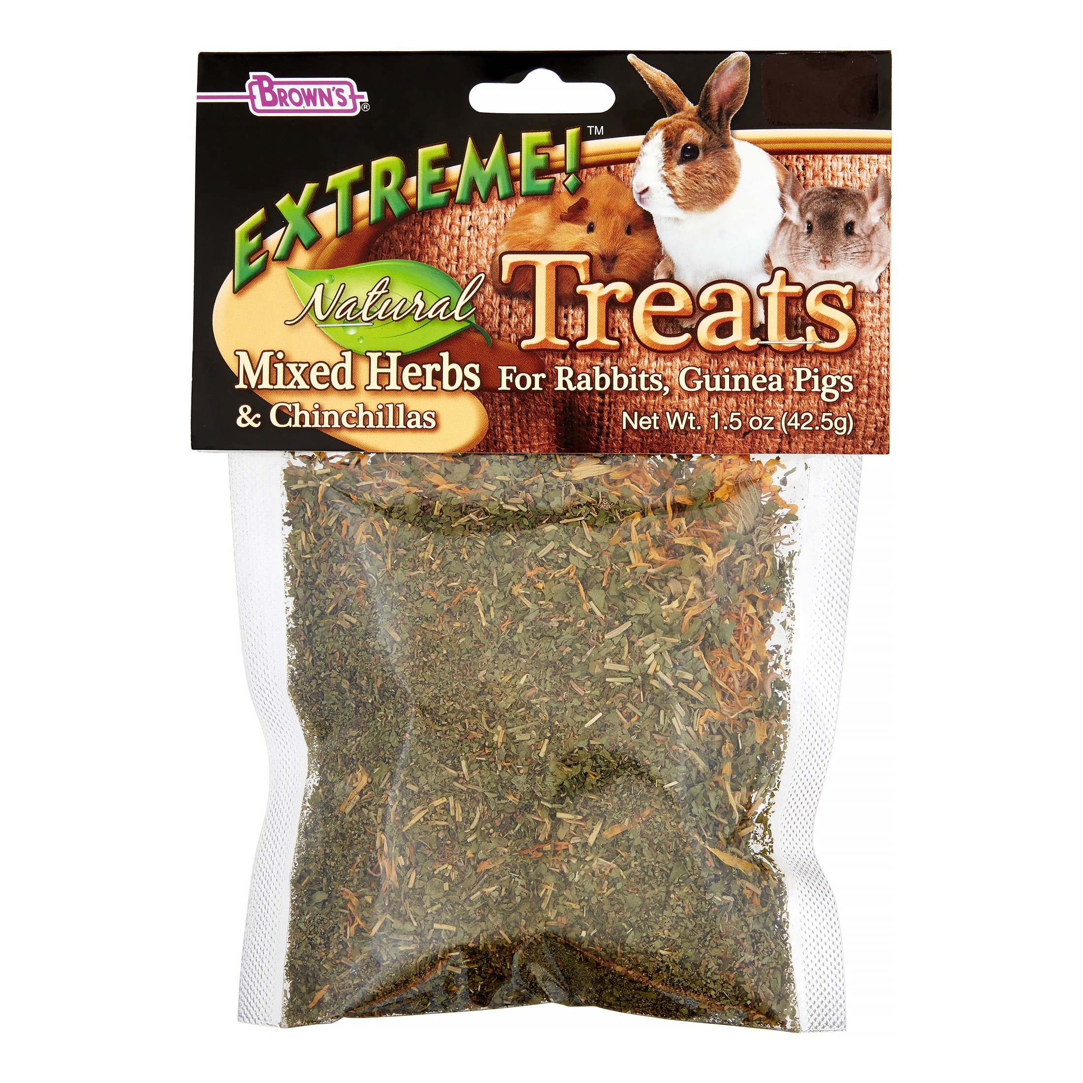 Brown's Extreme! Mixed Herbs Small Animal Treat, 1.5 Oz