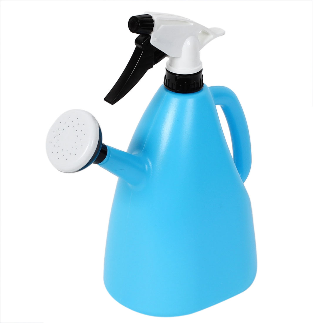 Garden Plastic Dual Nozzles Water Flower Trigger Spray Bottle Sprayer Sky Blue by
