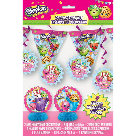 Shopkins Party Decoration Kit, 7-Piece - Great Gatsby Party Decorations