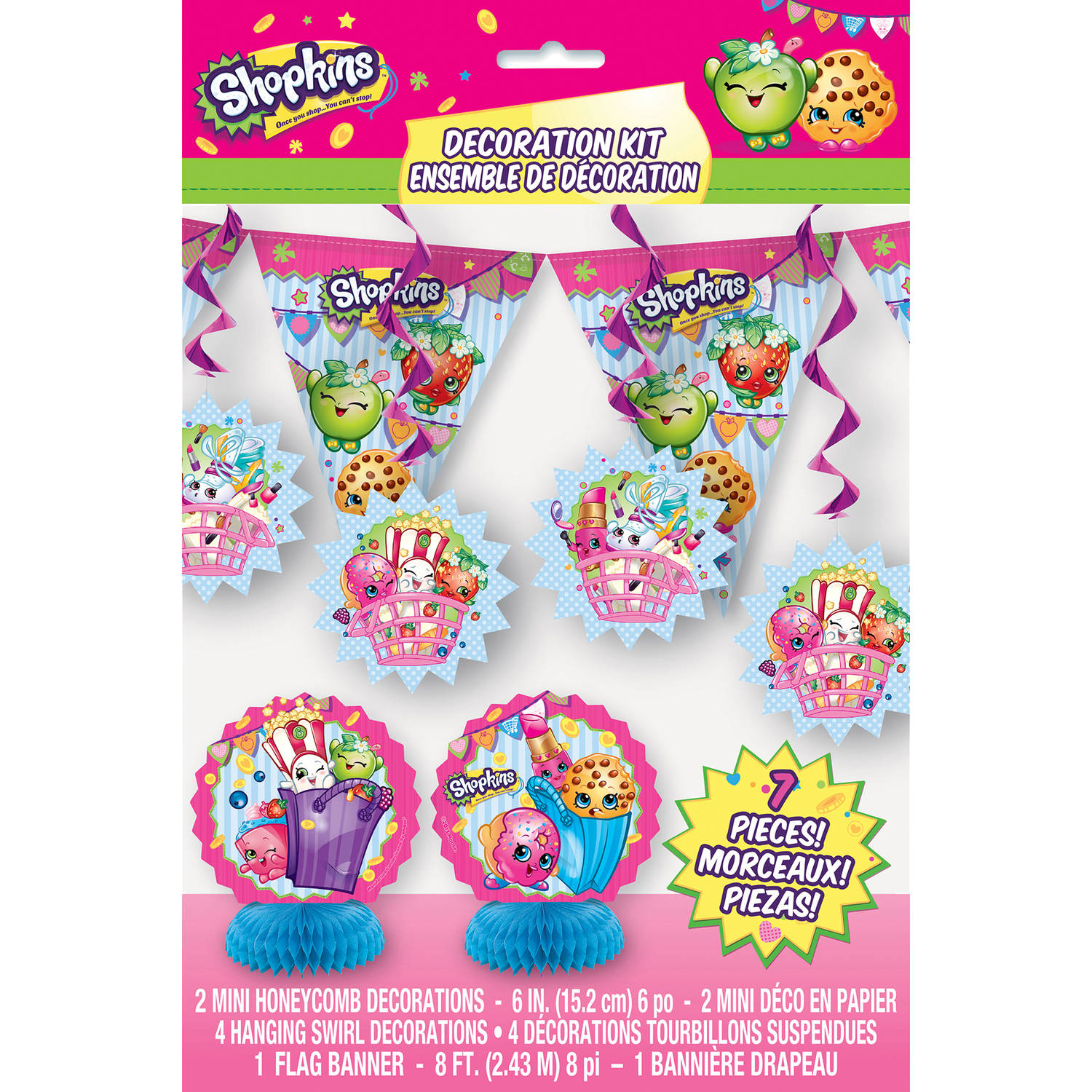 Shopkins Party Decoration Kit, 7-Piece