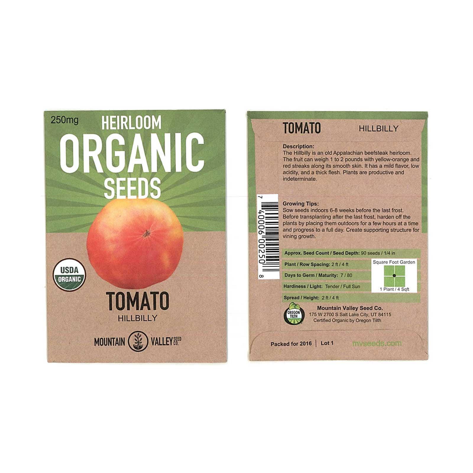 Tomato Garden Seeds Yellow Pear 250 mg Packet NonGMO Organic