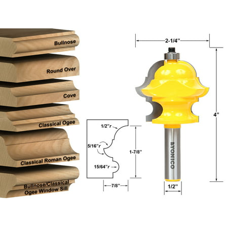 Multiform Multi-Profile Molding Router Bit - 1/2