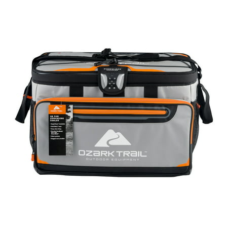 Ozark Trail 48 Can Zipperless Cooler with Smartshelf, Gray](Halloween Dry Ice Uk)