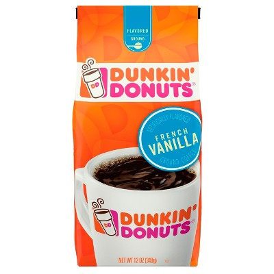 Dunkin' Donuts French Vanilla Flavored Ground Coffee 12oz
