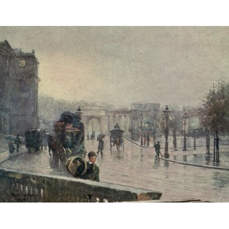 Familiar London 1904 Hyde Park Corner Canvas Art - Rose Barton (24 x - Halloween Party Hyde Park