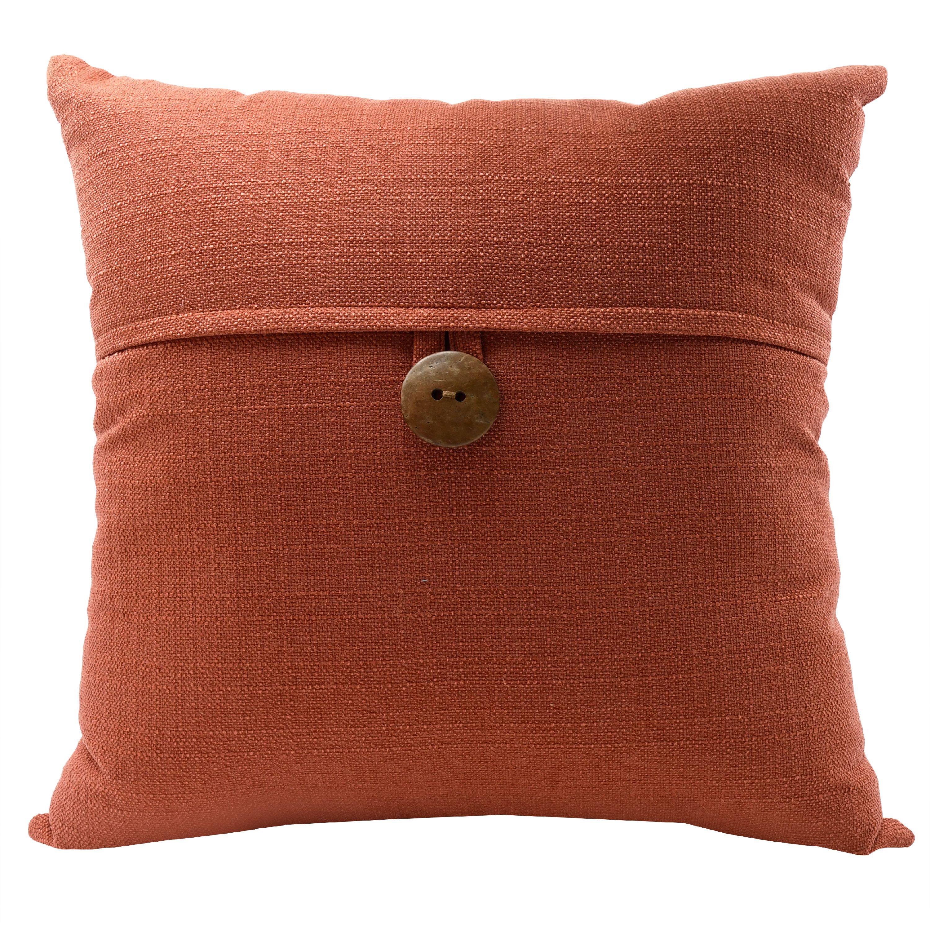 """Mainstays Dynasty Coconut Button Accent Decorative Throw Pillow, 18"""" x 18"""", Turquoise"""