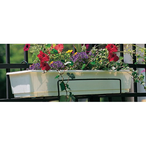 Extra-Large Open-End Adjustable Flower Box Holder - Black