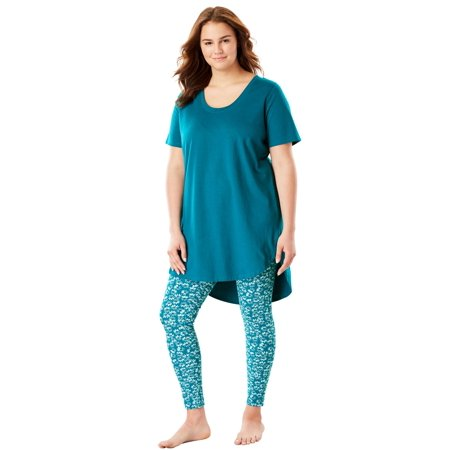 - Plus Size Graphic Tunic Pj Set By Dreams & Co.