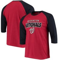 Washington Nationals '47 Club 3/4-Sleeve Raglan T-Shirt - Red
