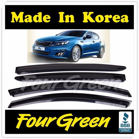 Guard Emblem - 4Pcs Window Visors Side Sun Rain Guard Vent Shade For KIA 2011-2015 Optima K5