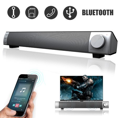 Home Theater 3D Surround Stereo Soundbar bluetooth 4.2 Speaker Sound Bar Built-in Subwoofer for PC Desktop Laptop Tablet Smartphone (Sound Bar For Laptop)