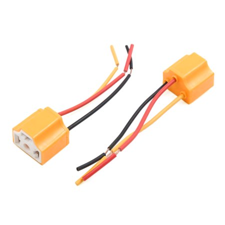 10 pcs orange 3 terminals h4 bulb socket car wire harness extension  connector - image 1