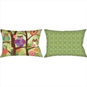 Manual Woodworkers and Weavers Owls Climaweave Pillow Digitally Printed