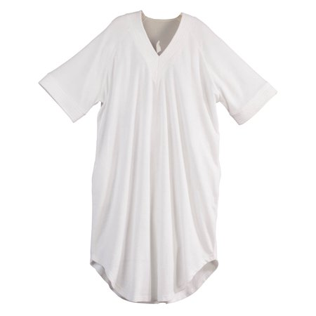 V Neck White Terry Caftan by Sawyer Creek