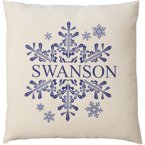 Personalized Winter Snowflake Pillow