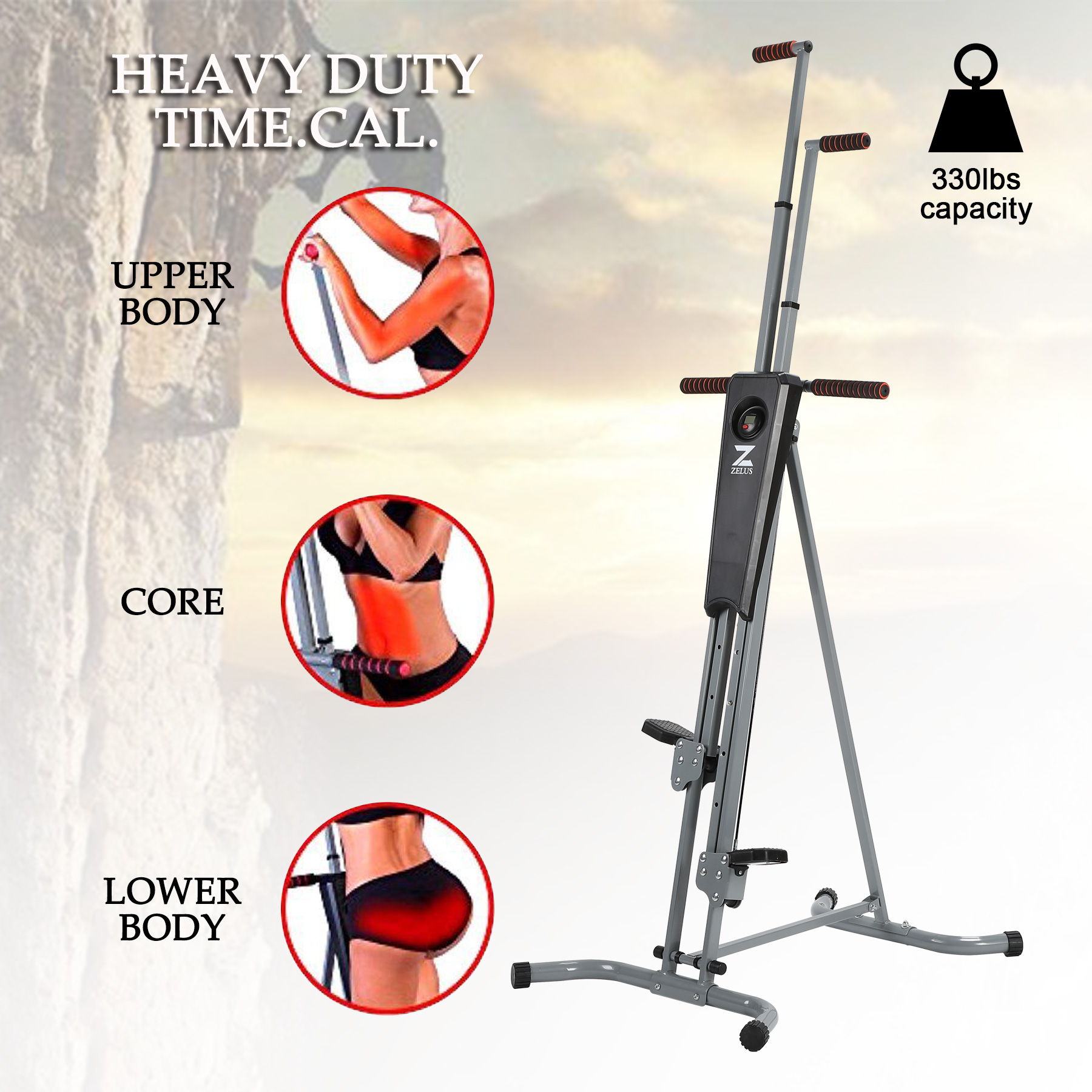 Vertical Climber Machine Fitness Climbing Equipment for Home Gym by
